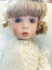 """25"""" Vtg Kais Doll By Janis Berard All Porcelain Beautiful Blonde Pouty Toddler"""