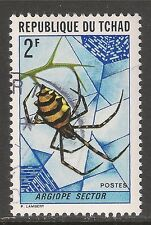 Chad #253 (A66)  VF USED - 1972 2fr Spider (Argiope Sector)