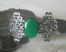 Green Onyx Cuff Bracelet, celtic pagan wiccan wicca witch witchcraft new age