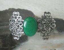 Green Onyx Cuff Bracelet, celtic boho bohemian hipster hippie pagan wiccan wicca