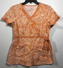 Koi By Kathy Anderson Women's Nurse Scrub Top Size S Small Pre-owned-D204