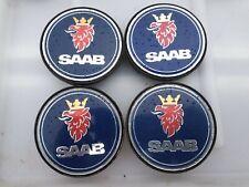 Genuine Saab 63mm Alloy Wheel Centre Caps x4 93 95 Aero Sportwagon Cabriolet