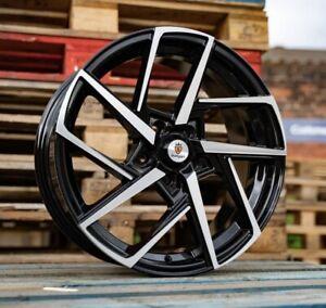 """17"""" Stuttgart ST21 Alloy Wheels Black Machined 5x100 fits Audi TT 8N Mk1"""