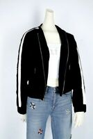 New NWT Juicy Couture Black Label Women's Striped Bomber Jacket Size Small!