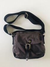 SISLEY SMALL NYLON & LEATHER CROSSBODY BAG GREY / BLACK SUPERB CONDITION