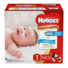 Huggies Plus Diapers Size 1: Up to 14lbs, 192ct - Free Shipping - New!