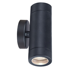 Powder Coated Black Up and Down Outdoor Wall Light 2 x 5w LED Bulbs FREE IP65