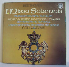 "3 x 33T BEETHOVEN Coffret Disques LP 12"" MISSA SOLEMNIS op. 123 -PHILIPS 6769001"