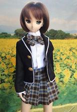 1/3 BJD dollfie dream doll outfit DDL/DDM school uniform dress set ship US