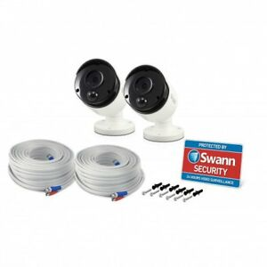 Swann CCTV Camera PRO-5MPMSB 5MP PIR Motion & Heat Activated Full HD Twin Pack