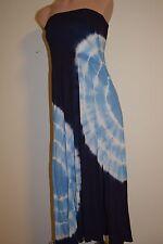 NWT  Raviya Swimwear Cover-Up Streplass Dress Long Skirt Sz M Navy