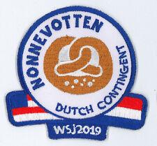 2019 World Scout Jamboree HOLLAND DUTCH SCOUTS Contingent Patch - NONNEVOTTEN