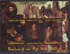 Rembrandt Painting  Arts 2013 West Papua MNH 3 v S/s set  perf