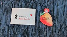 Pair 1930's Valentines, Carrot and Saint Valentine