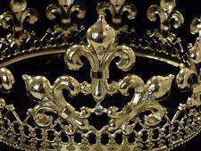 Gold Crown Prom King Mens Fleur De Lis Mardis Gras Costume Prop Decoration C15