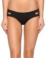 Becca by Rebecca Virtue Color Code Cut Out Bikini Bottom L Black Womens Swimsuit
