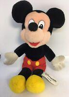 "Vintage Mickey Mouse 12"" Plush Stuffed Toy Doll Rare Disney Disneyland Soft"
