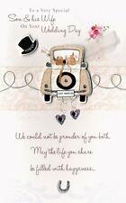 Son & Wife Embellished Wedding Greeting Card Second Nature Poem Corner Cards
