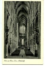 Central Nave-Interior of Church-Cathedral-Koln-Cologne-Germany-Vintage Postcard