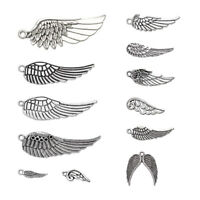 100g Tibetan Style Alloy Wing Pendants Charms DIY Jewelry Making Antique Silver