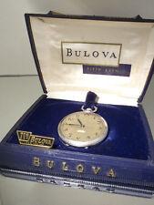 """VINTAGE BULOVA orologio da tasca con """"Direct read"""" secondo-Incl. BOX"""