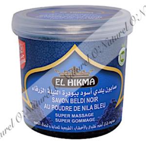 Sapone Nero Beldi Polvere Blu Nila BIO 100% Naturale 250g Black Soap Blue Nila