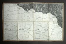 Del Sur Del Parque Natural Región De Pirineos Ariège, mapa geográfico 19eme
