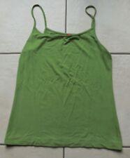ESPRIT  Top uni vert olive fines bretelles F Xl