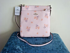 Coach 29878 Ice Pink Floral Bow Crossbody Messenger Bag