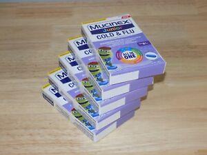 10 Pack Mucinex Junior Cold & Flu All In One 20 Caplets Each 07/2021