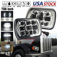 "2Pcs 7""x6"" LED PROJECTOR Headlights DOT For Freightliner Truck MT-35 MT-45 MT-55"