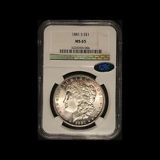 1881-S Morgan Silver Dollar CAC & NGC MS 65  - Free Shipping USA