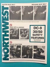 NORTHWEST AIRLINES SAFETY CARD--DC9-30/50