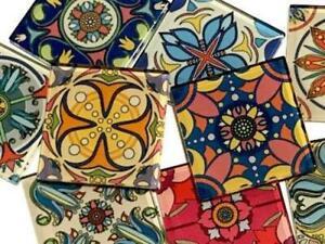 Handmade Mexican Inspired Glass Tiles 2.5cm - Mix 5 - Mosaic Art Craft Supplies