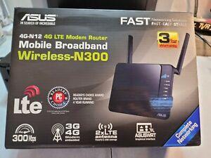 Asus 4G-N12 Router 4G LTE Modem Router, Wi-Fi N300, 3G/4G, 4 Porte Ethernet