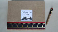 Rustic Cabin Guest Book Set- Guestbook Burlap Deer Elk Rental Sign Home Gift