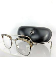 Brand New Authentic Moncler Eyeglasses ML 5021 055 49mm Tortoise Silver Frame