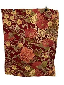 Pottery Barn Red Peach Green Dahlia Zinnia Floral Cotton Standard Pillow Sham