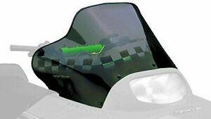 PowerMadd 12230 Cobra Windshield for Arctic Cat ZR 2 - Tint with black checkers