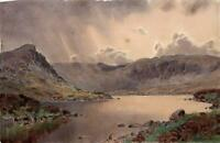 ISAAC COOKE (1846-1922) Watercolour Painting MOUNTAIN LAKE POSSIBLY WALES? c1900