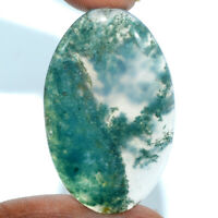 Cts. 47.00 Natural Moss Agate Cabochon Oval Cab Loose Gemstones