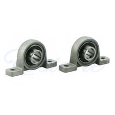 2X Zinc Alloy Diameter Bore Ball Bearing Pillow Block Mounted Support KP002 15mm
