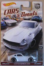 Hot Wheels Car Culture CARS & DONUTS CUSTOM DATSUN 240Z white w/ REAL RIDERS