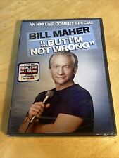 Bill Maher: But I'm Not Wrong Brand New DVD - Ships FREE In BOX!