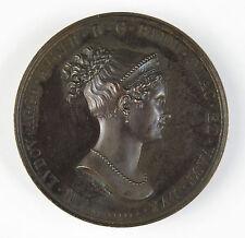 Napolenic medalla de bronce-Maria Ludovica puente sobre río Taro 1818-Santarelli