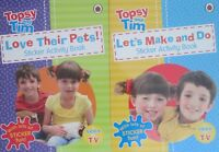 Topsy and Tim 2 Sticker Activity Books-CBEEBIES-LOVE THEIR PETS+LET'S MAKE & DO