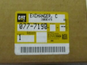 NEW CATERPILLAR 077-7190 OIL COOLER/EXCHANGER
