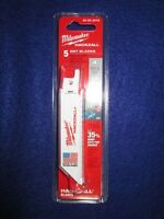 """MILWAUKEE 49-00-5418 4"""" HACKZALL BLADES PACK OF 5 EMT NEW"""