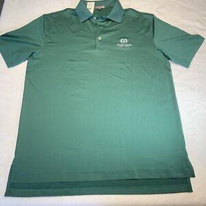 PETER MILLAR Summer Comfort size M polo golf shirt BROADMOOR GOLF CLUB NWT Green
