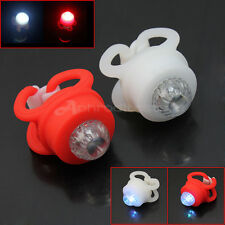 2 LED Luce Lampeggiante Multicolori Lampadine Posteriori Fanali Fari Bici ap7e